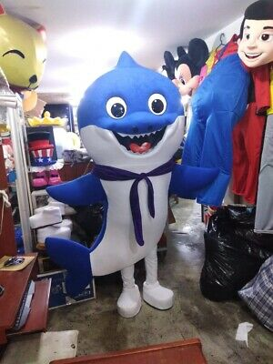 Baby Costume Shark (Daddy Baby Shark Blue Mascot Costume Party Character Birthday Halloween)