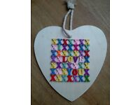 new see pic X LARGE HANDMADE GEM ENCRUSTED WOODEN BUTTERFLY HANGING GIFT