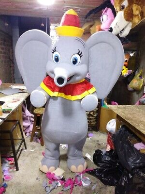 Dumbo Gray Elephant Circus Mascot Costume Party Character Birthday Halloween (Character Costumes Halloween)