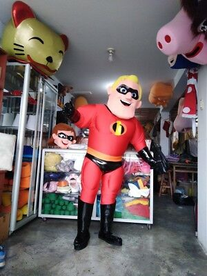 Incredible Halloween Costume (Mr. Incredible Mascot Costume The Incredibles Halloween Birthday Party)