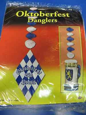 Oktoberfest German Blue White Theme Party Decoration Dangling Cutouts