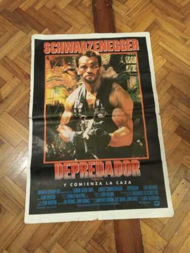 Afiche original - DEPREDADOR- PREDATOR ARNOLD SCHWARZENEGGER  75 X110