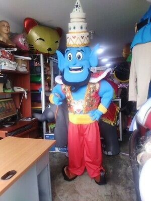 Genie Aladdin Mascot Costume Party Character Birthday Halloween Cosplay Blue