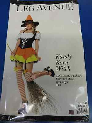 3 pc. Kandy Korn Witch Candy Cute Fancy Dress Up Halloween Sexy Adult Costume ()