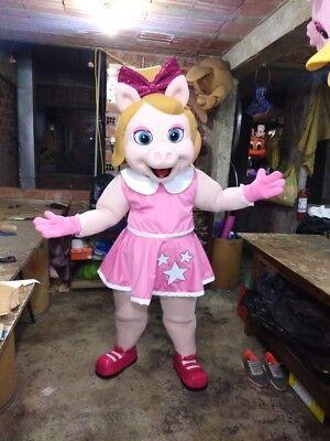 Miss Piggy Baby Muppets Maskottchen Kostüm Party Charakter Halloween Geburtstag ()