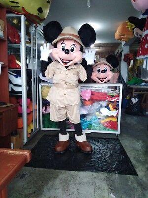 Minnie Maus Safari Maskottchen Kostüm Party Charakter Geburtstag