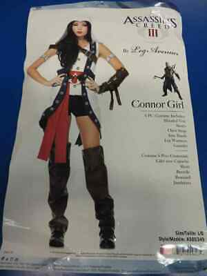 Connor Girl Assassin's Creed Video Game Fancy Dress Up Halloween Adult Costume