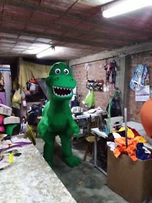 Rex Green Dinosaur Toy Story Mascot Costume Party Character Birthday Halloween ()