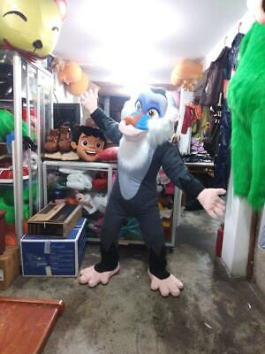 Rafiki Lion King Halloween Costume (Rafiki Lion King Monkey Mascot Costume Character Cosplay Gray,)