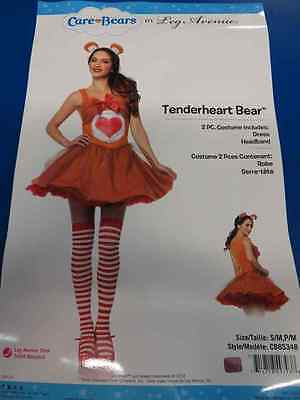 Tenderheart Bear Care Bears Brown Heart Fancy Dress Up Halloween Adult Costume