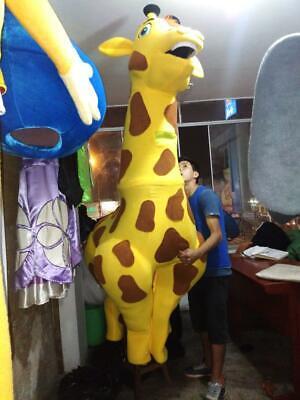 Giraffe Tier Charakter Kostüm Maskottchen Gelb, Braun