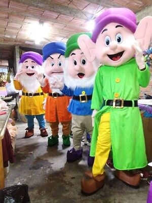 Snow White And The Seven Dwarfs Mascot Costume Party Character Halloween