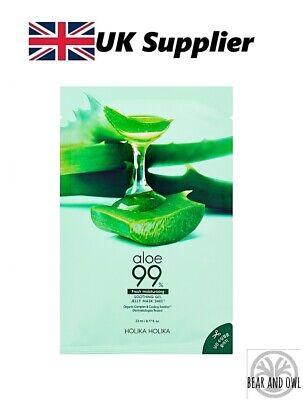 ALOE 99% Fresh Moisturizing Soothing Gel Jelly Mask Sheet by Holika Holika [UK]