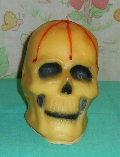 vintage Halloween GURLEY LARGE SKULL CANDLE