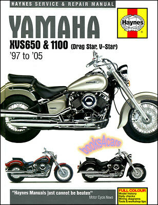 Used, YAMAHA XVS 650 1100 V-STAR DRAG STAR SHOP SERVICE REPAIR MANUAL HAYNES BOOK NEW for sale  Shipping to Canada