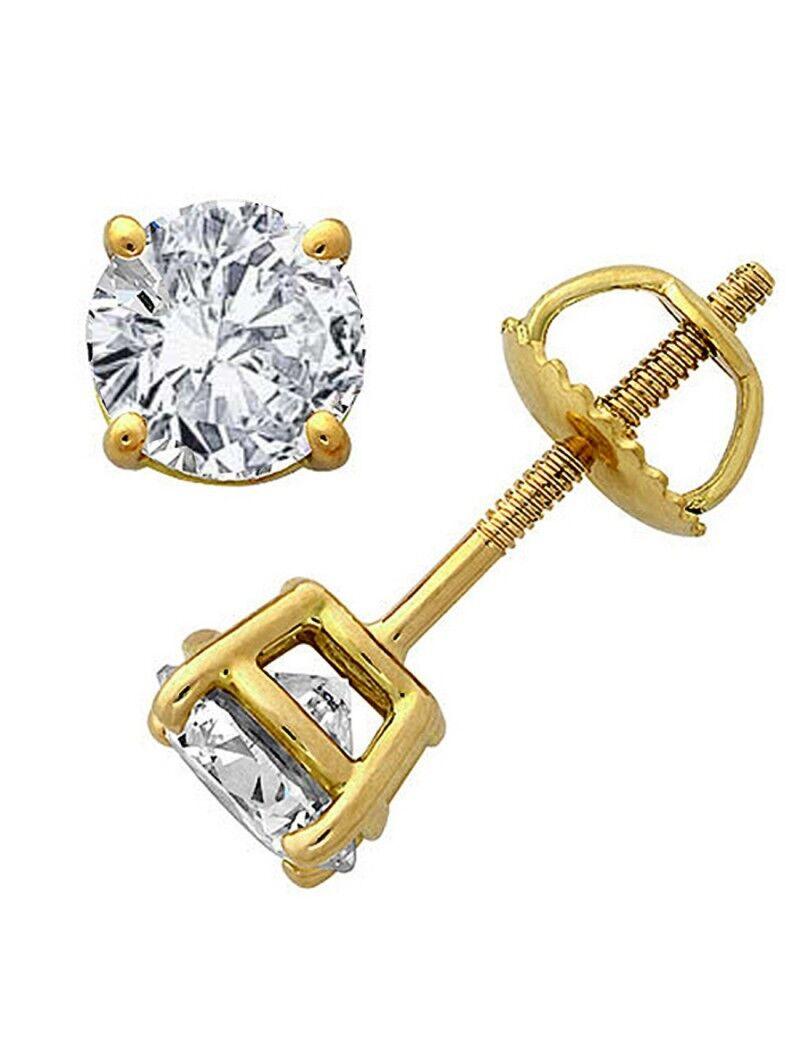Original McPearl Solitär Diamant Ohrringe, Ohrstecker, top Qualität