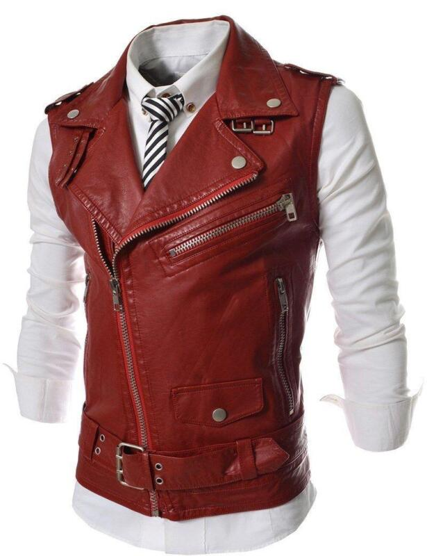 Mens Leather Motorcycle Vest Harley Davidson