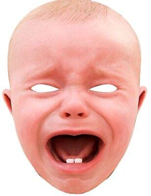 Crying Baby XXL Maske NEU - Karneval Fasching Maske Gesicht ()