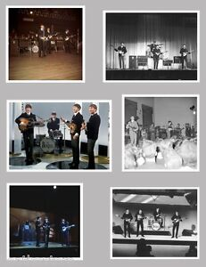 Beatles-Live-on-stage-1963-set-of-6-rare-nice-real-concert-photos-John-Lennon