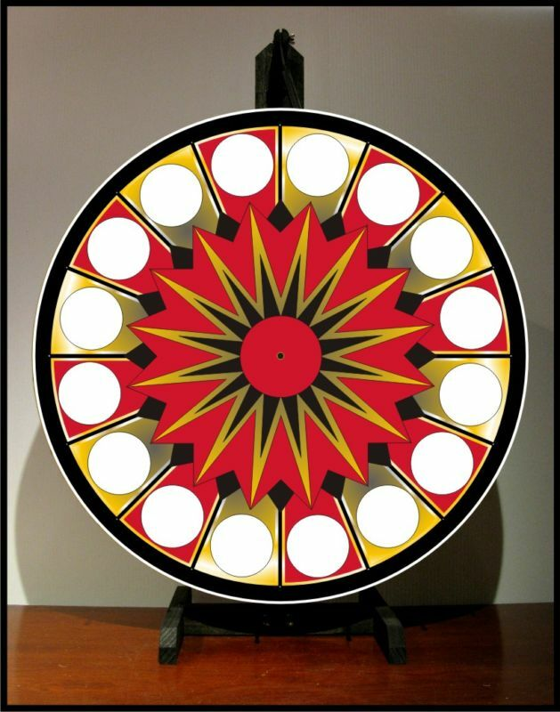 """Prize Wheel 24"""" Spinning Tabletop Portable Casino NEW"""