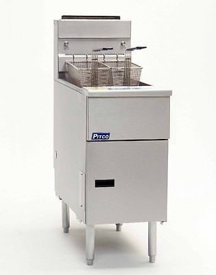 Pitco Sg14s Pitco Solstice 50lb Stainless Steel Deep Fryer