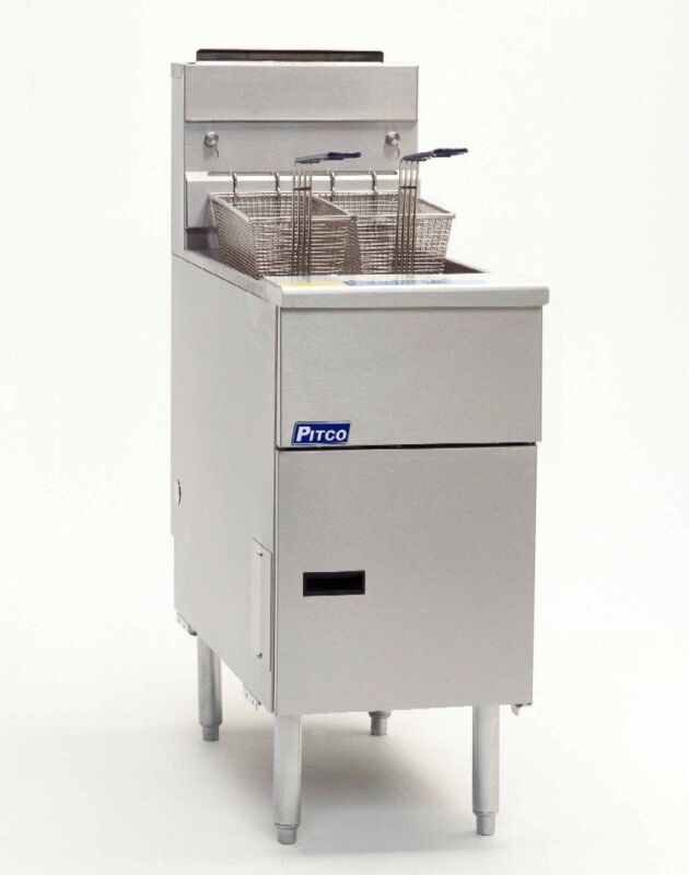 Pitco Sg14-s Pitco Solstice 50lb Stainless Steel Deep Fryer
