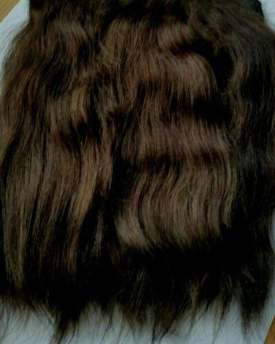 Premium Angora mohair. Dark brown Straight 7/8 Inches. 15grams. Super soft