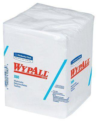 Kimberly Clark Wypall 41083 X60 Hygienic Washcloth  1 4 Fold  White  8 Packs Of