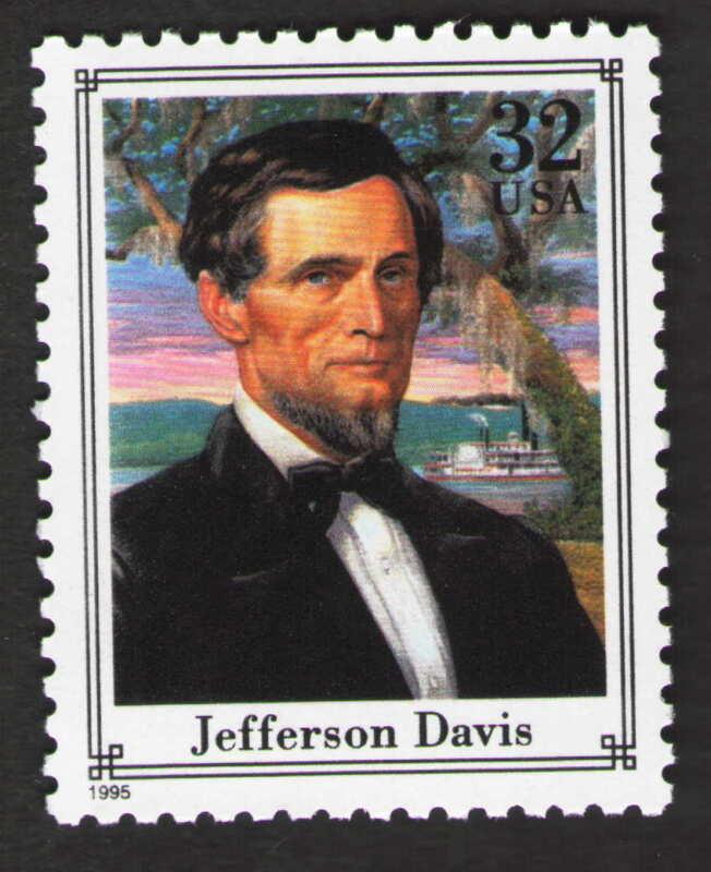 US. 2975f. 32c. Jefferson Davis (1808-89) Politician. Civil War. MNH. 1995