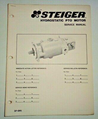 Steiger Tractor Hydrostatic Pto Motor Service Shop Repair Manual 1180