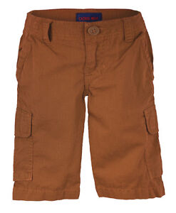 BOYS PLAIN CARGO COTTON SHORTS ¾ TROUSERS CASUAL COMBAT STYLE 6 MONTHS-14 YEARS