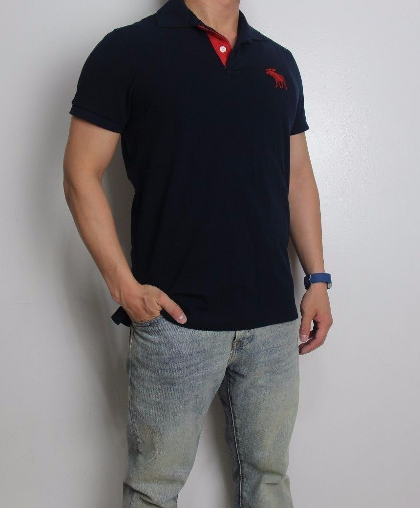 b6d626ca New Abercrombie & Fitch Men Bradley Pond Polo Shirt By Hollister All ...