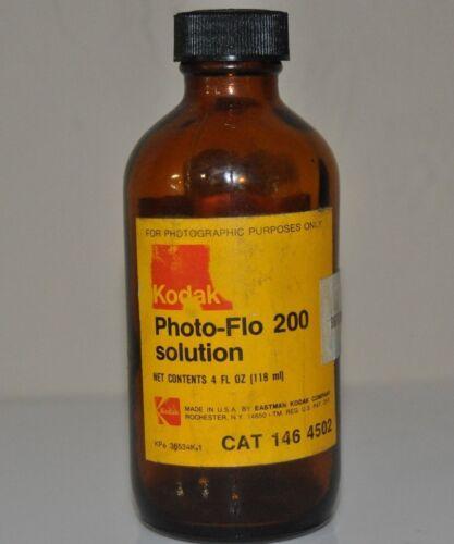 Vintage AMBER EASTMAN KODAK Photo Flo Bottle 1980