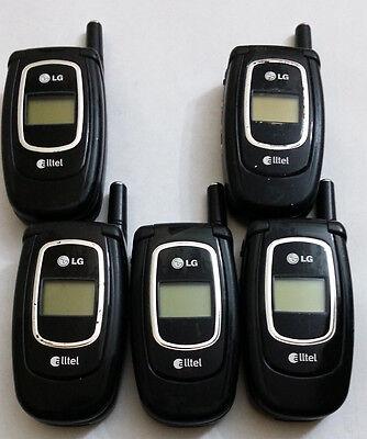 Lot of 5 LG AX4270 Alltel Cell Phones Power Up