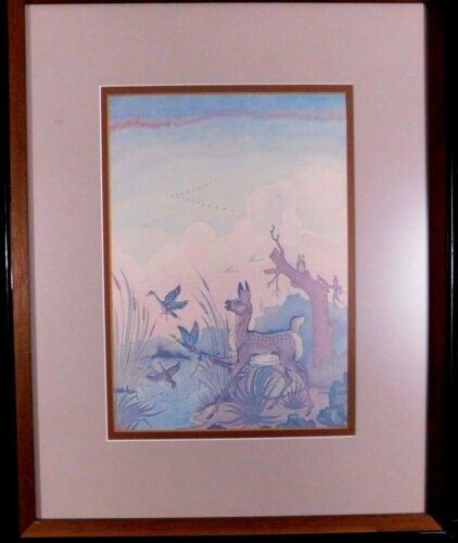 "Woody Crumbo Print ""Autumn Flight"" Potawatomi Native American"