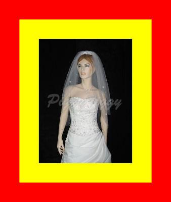 Bridal Fingertip Tiara (2T Bridal Fingertip Swarovski Crystal Rhinestones Wedding Dress Tiara Veil)
