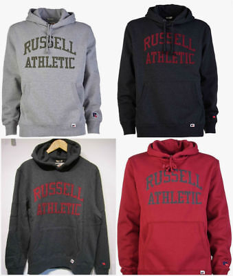 Russell Athletic Sweats (Russell Athletic Mens Hoodie Sweatshirt Hooded Logo Hood Sweat Top Size S,M,L )