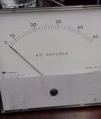 Triplett Model 430-g Analog Panel Meters 0-50 A.c. Amps