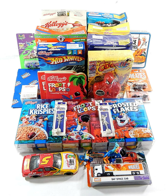 Cereal Collectors Lot Boxes Premiums Toys Gift Sets Cars Spoons Jogometer ++
