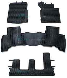 Toyota Prado 150 2009-2012 BLACK Rubber Car Interior Floor Mats Top Quality RHD