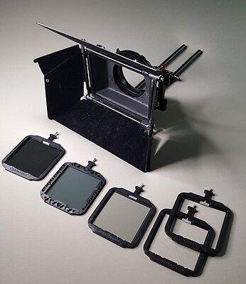 Cinematics Camera Matte Box for DSLR 5D BMCC BMPCC SONY F5 A7S w ND Filters
