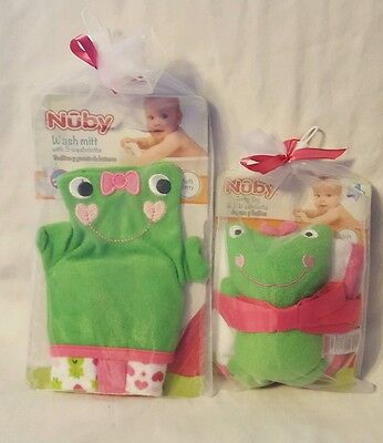 - Nuby Baby/Toddler Frog Wash Mitt w/ 3 Washcloths and Terry Toy w/ 2 Washclothes