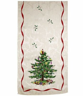 Spode Christmas Tree Table Runner Red 108 Inches Avanti NEW