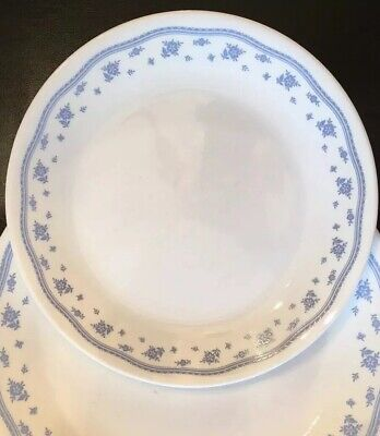 Corelle Lunch Plate Morning Blue White Floral Forget-Me-Not Flower Used Blue Floral Lunch Plate