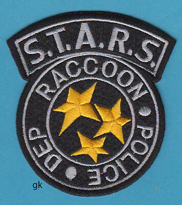 STARS RESIDENT EVIL RACCOON POLICE SHOULDER PATCH ( BLACK / YELLOW)