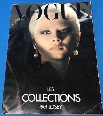 Vintage French VOGUE PARIS September 1977 Les Collections Par Losey Designers