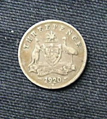 Munt Australië/Australia: 3 Pence 1920 M (zilver)