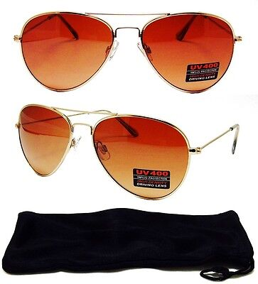 HD Driving Aviator SunGlasses Golf Vision Blue Blocker Lens High Definition