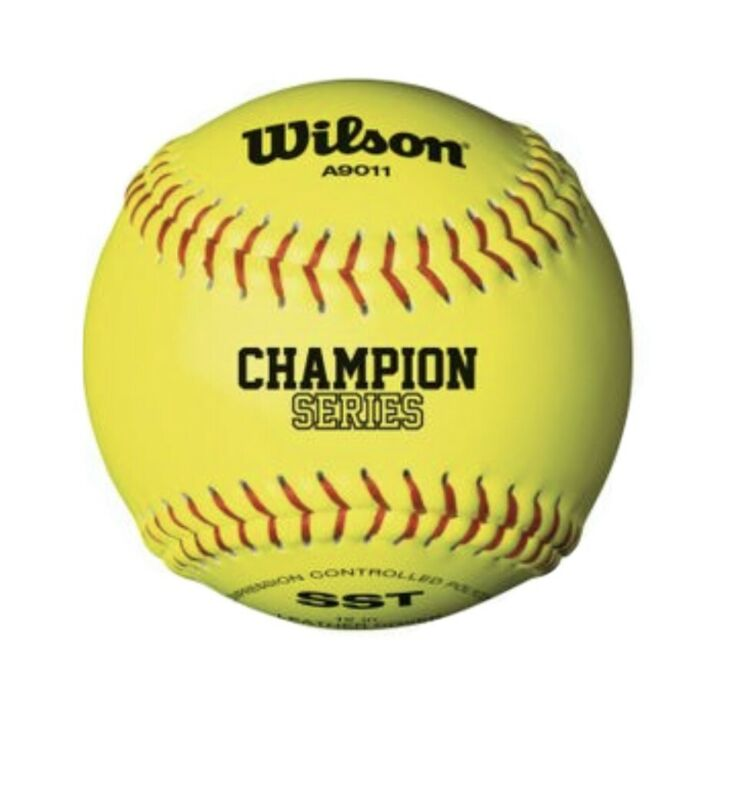 "Wilson Champion Series 12"" NFHS Yellow Fastpitch Softball (Dozen)"