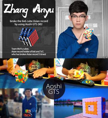 MoYu AoShi GTS 6x6x6 Speed Magic Cube Twist Puzzle Intelligence Toys Black